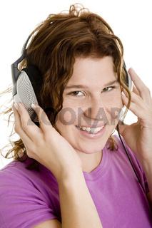 Glücklich Musik hören