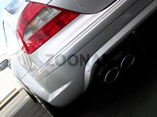 Luxus Auto Heck - Silber