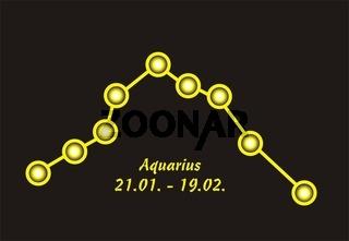 Sign of the zodiac aquarius