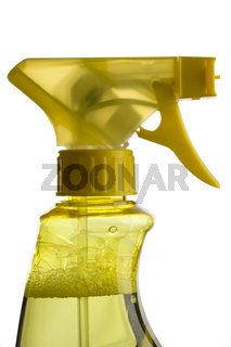 blue and yellow trigger spray bottles