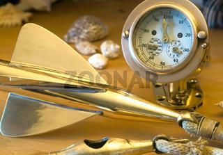 Alte Logge aus Messing - Ancient brass nautical log