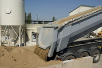 Kieslieferung, LKW, neutral, Gravel delivery, truc