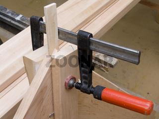Tischlerwerkstatt Holzverleimung, Wood glueing