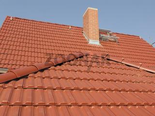 Dacharchitektur Eindeckung Schornstein