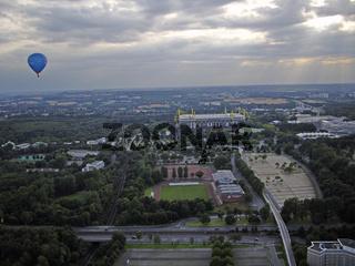 Ballon über Westfalenstadion