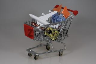 Einkaufswagen - Urlaub