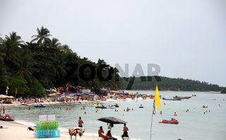 action in chaweng beach
