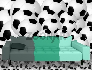 Fußballsofa