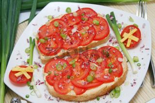 tomate auf brot