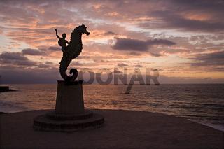 Sea Horse sculpture
