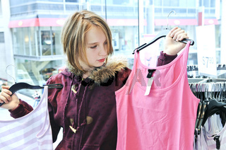 Teenage girl shopping