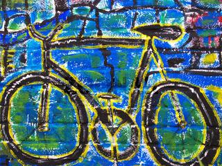 Fahrrad-Graffiti