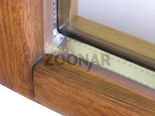 Fenster Detailansicht Lasurfarbenanstrich