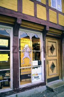 Denmark, Aalborg, Alborg, old fashion shop
