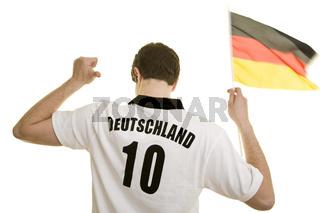 Deutschland-Trikot und Fahne