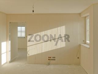 Malerbaustelle Zimmer in Bearbeitung Wohnraumfoto