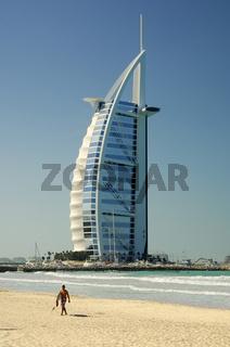 Burj al Arab Hotel am Meer, Dubai
