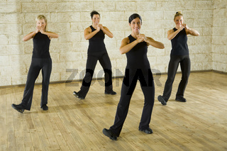 Group of the working out women
