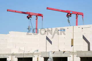 Mini cranes, construction | Minikran Rohbau