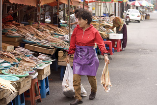 Fischmarkt in Mokpo  Korea