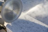 Betonschneiden Flex, Cutting concrete