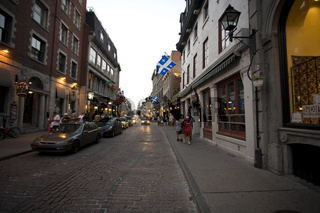 Street of old montreal