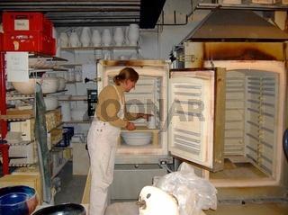 Töpferei, Pottery, Keramik, Ofen einrichten