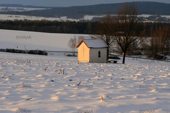 Feldkapelle im Winter