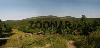 Brocken im Harz von Torfhaus gesehen