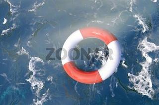 Rettungsring im Ozean