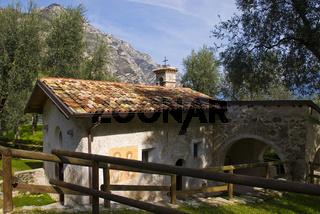 Chiesa San Pietro in Oliveto, Limone sul Garda, Gardasee, Gardisienne Occidentale, Italien