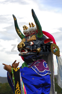Tanzende Dämonen, Tibetanische Maske