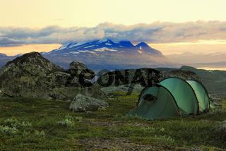 freiland, outdoor, camping, stora sjoefallet national park, laponia, norrbotten, lapland, lappland, sweden, schweden, swedish lapland, europe, europa