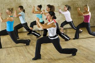 Women at fitness club