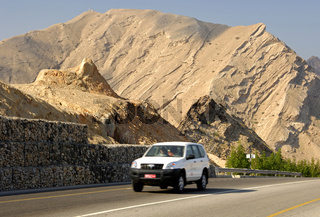 Strasse durch das Al Jissah Bergmassiv, Oman