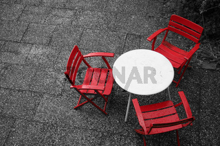 Chair in red (s/w)