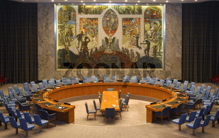 Tagungssaal des UNO-Sicherheitsrates, New York
