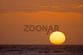 red sunset, sonnenuntergang, coast, kueste, runde (island), more og romsdal, norway, norwegen, nordeuropa, north europe, europa,