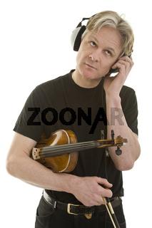 Violine und Kopfhörer