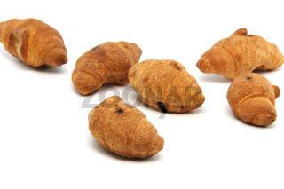 mini croisants isolated