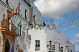 Rathaus in Vejer. Andalusien