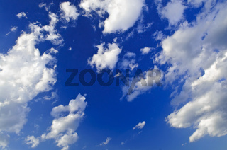 Blue sky with white clouds