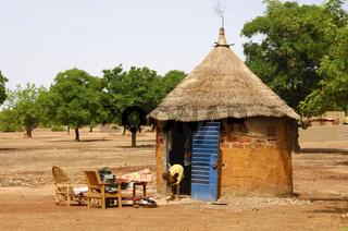 Afrikanische Rundhütte