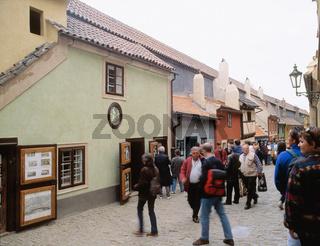 Czech Republic, Prague, people on Golden Line