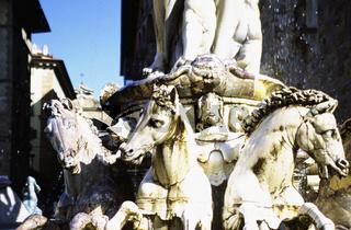 Neptune fountain in Piazza della Signoria, Florence (close-up) (mid section)