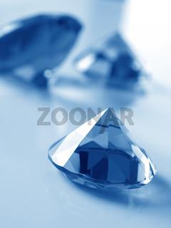 Big diamonds in blue