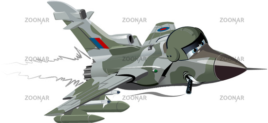 Cartoon Fighter Plane