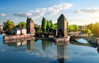 Covered bridge in Strasbourgh