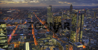 Frankfurt, abends