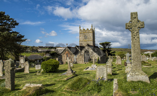 Curch in Zennor Cemetery